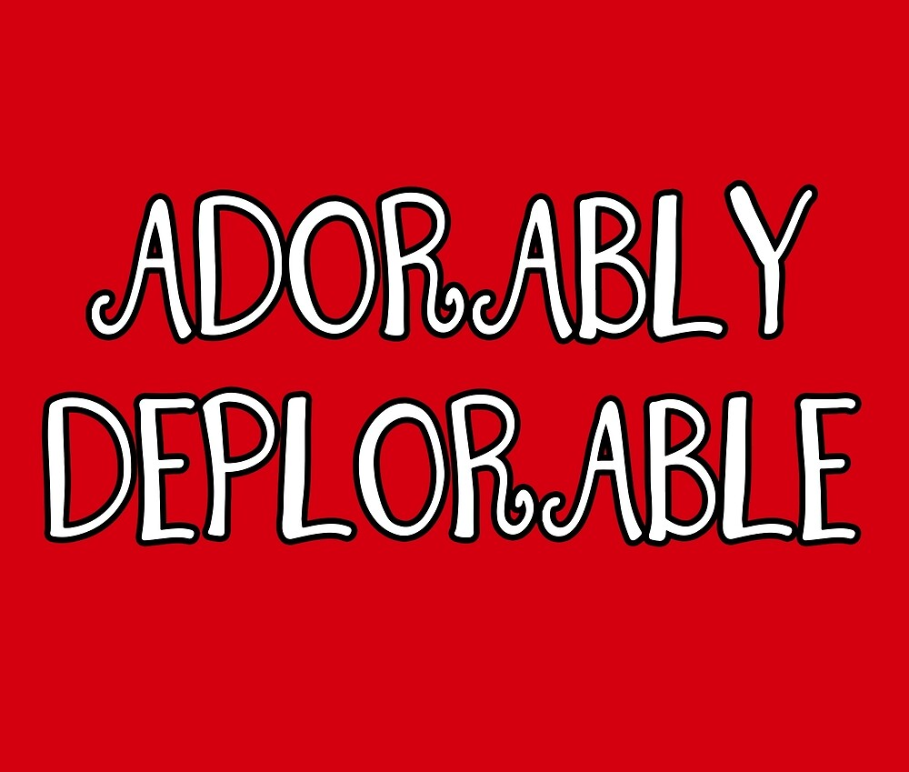 Adorably Deplorable, Curly Font by deplorable-inc