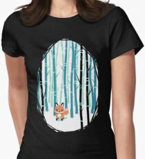 Fox in the Forest Women's Fitted T-Shirt