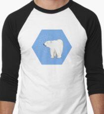 Polar Bear #8 Men's Baseball ¾ T-Shirt