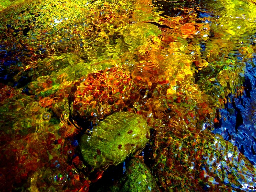 Gore Creek Abstract 21 by AlexandraZloto