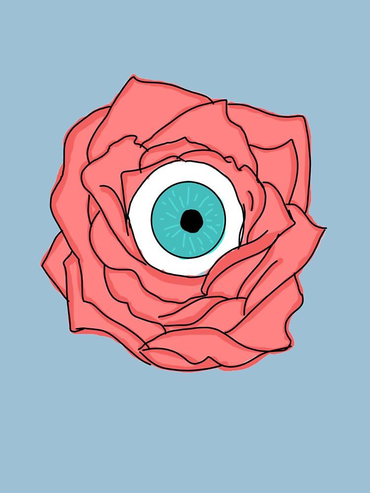 Pastel Eyeball rose by AudrieB
