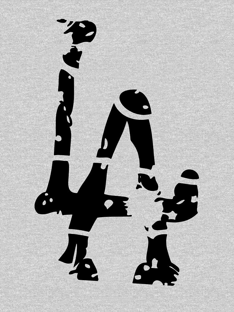 L A Abstract Funny Logo by jajakanaka