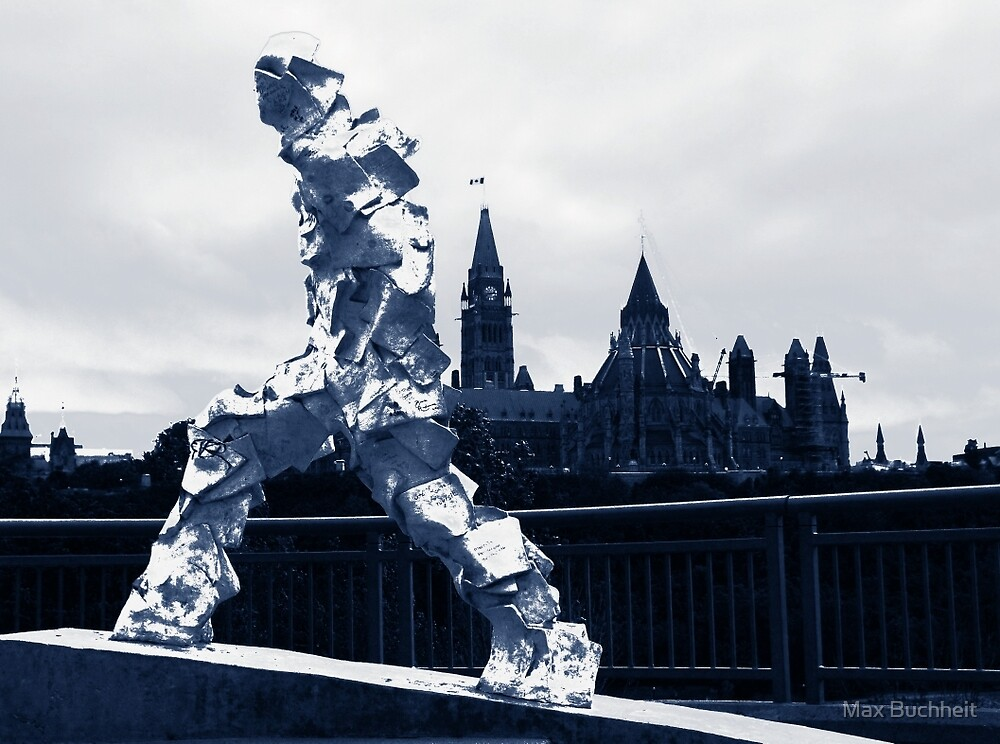Blue Man Walking (Ottawa, Canada) by Max Buchheit