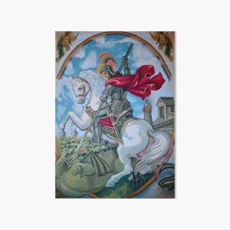 ST JORGE. ST JORDE.ST GEORGE Art Board Print
