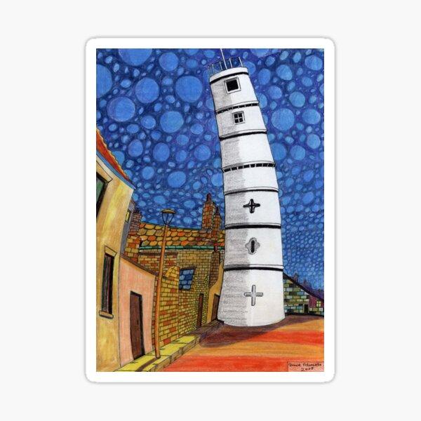201 - THE LIGHTHOUSE, BLYTH - COLOURED PENCILS - 2008 Sticker