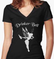 Drinkerbell Women's Fitted V-Neck T-Shirt