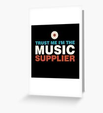 Music supplier colorful Greeting Card