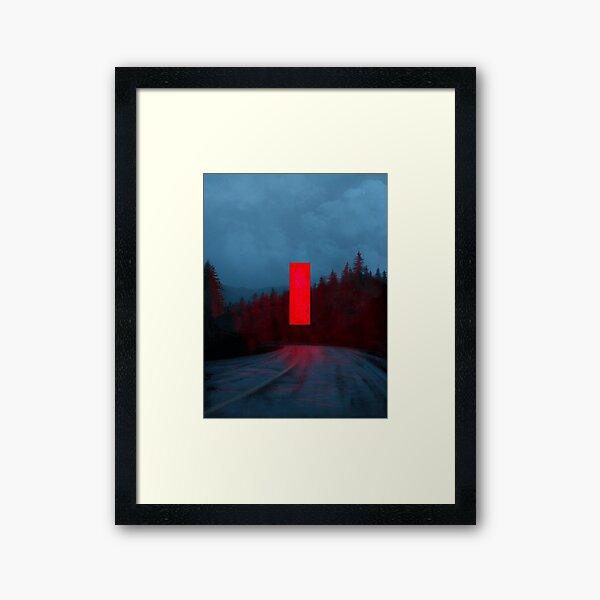 Red Monolith Framed Art Print