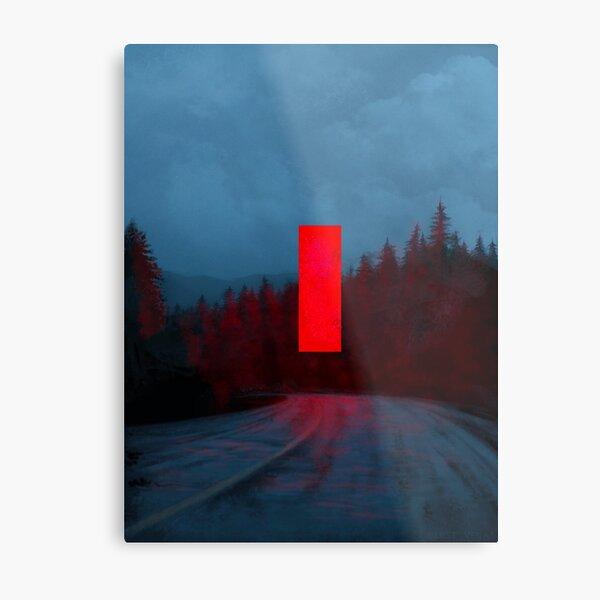 Red Monolith Metal Print