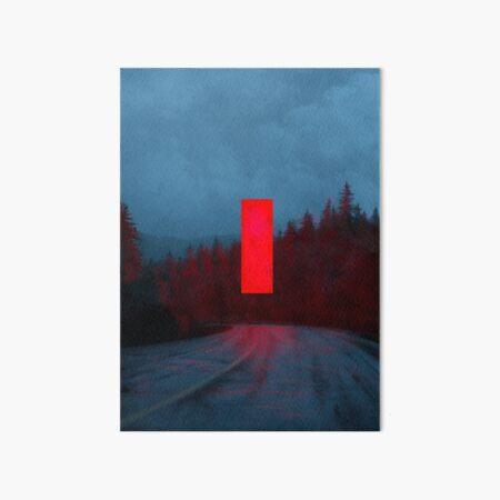 Red Monolith Art Board Print