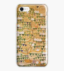 Gustav Klimt - Right Part Of The Tree Of Life 1909 iPhone Case/Skin
