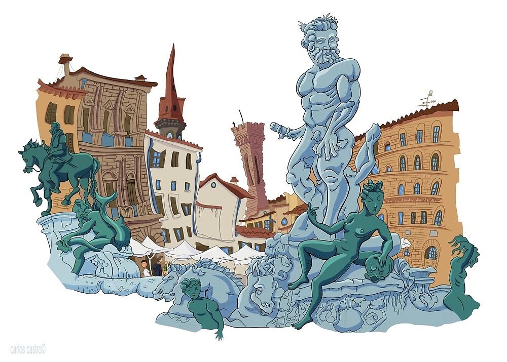 Neptune statue by carloscastro