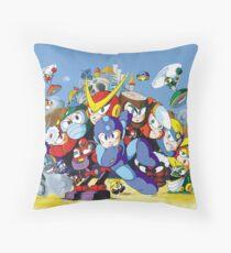 Mega Man 2 Famicom (NES) Japanese Box Art Throw Pillow