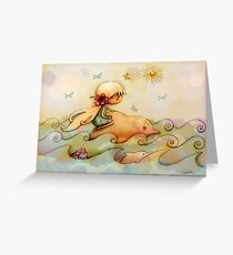 dolphin ride Greeting Card
