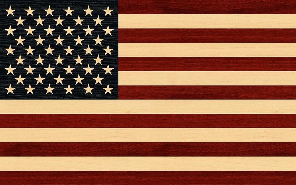 USA FLAG WOOD by johnhunternance