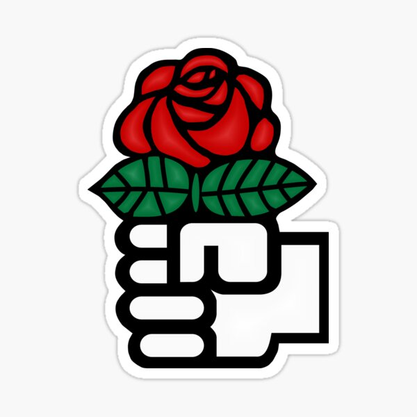 Fist and Rose (Right) Sticker