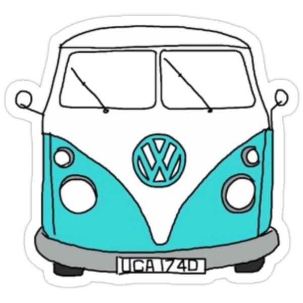 quot Hippie Van quot Stickers by lbramble15