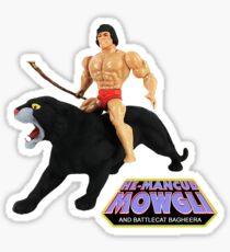 HE-MANCUB MOWGLI UND BATTLECAT BAGHEERA T-SHIRT Sticker