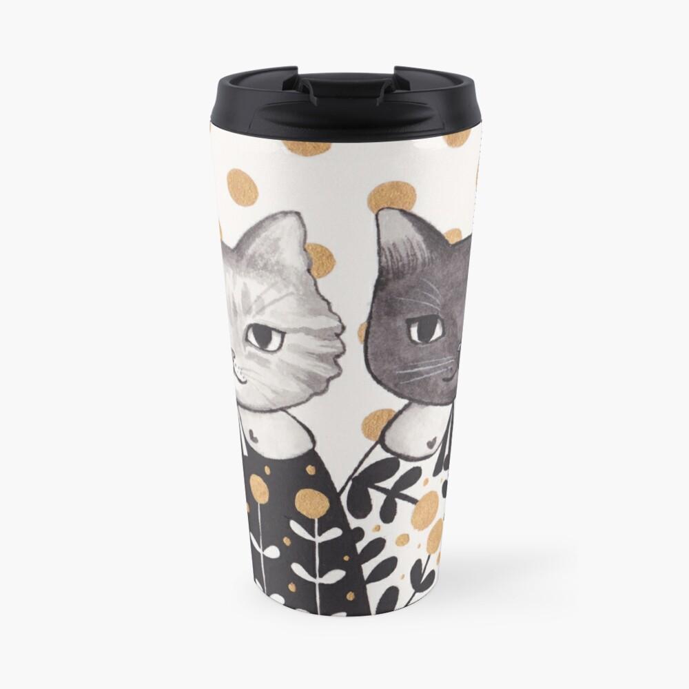 Kittens in Capes Travel Mug