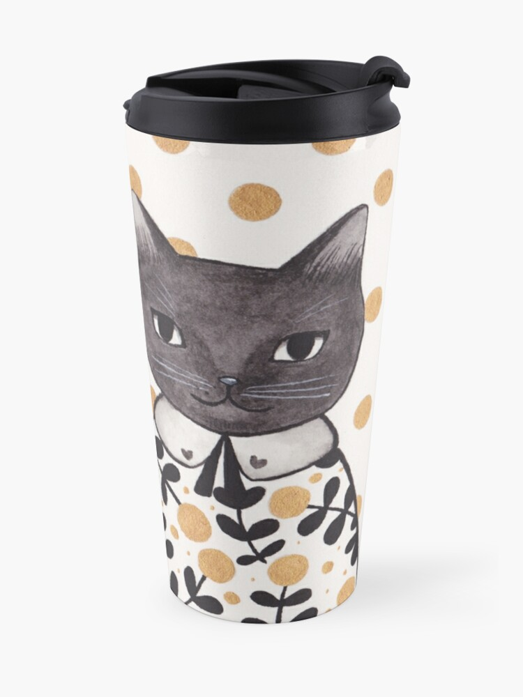 Alternate view of Kittens in Capes Travel Mug