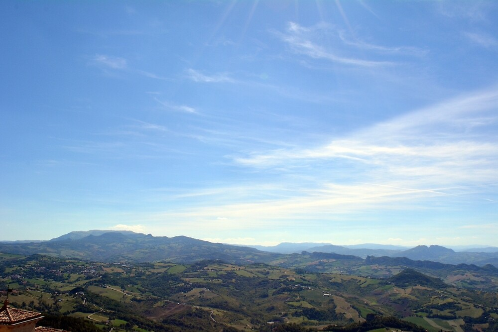 Natural landscape with the hills of San Marino by oanaunciuleanu