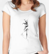 Grasshopper vertical Women's Fitted Scoop T-Shirt