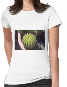 Small cactus in the pot Womens Fitted T-Shirt
