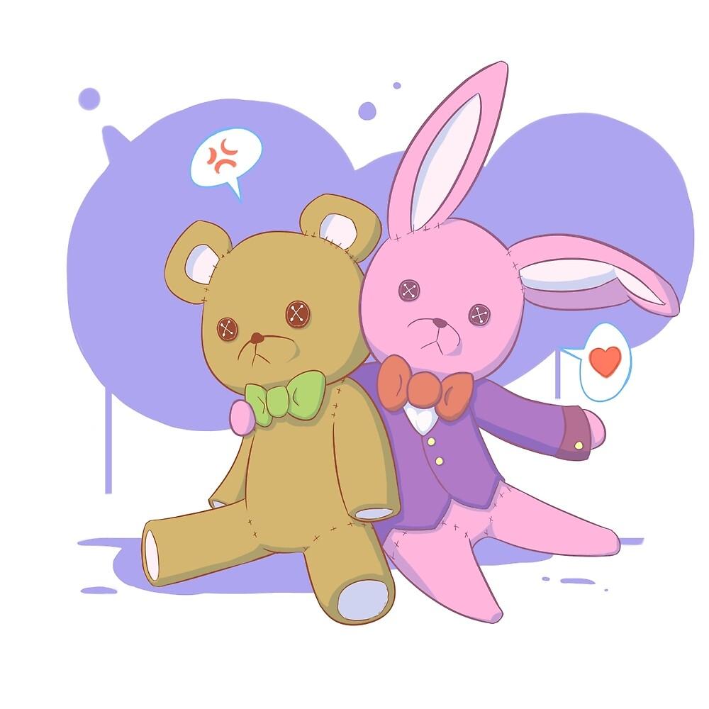 Rabbit Hugs by Ink-Maker