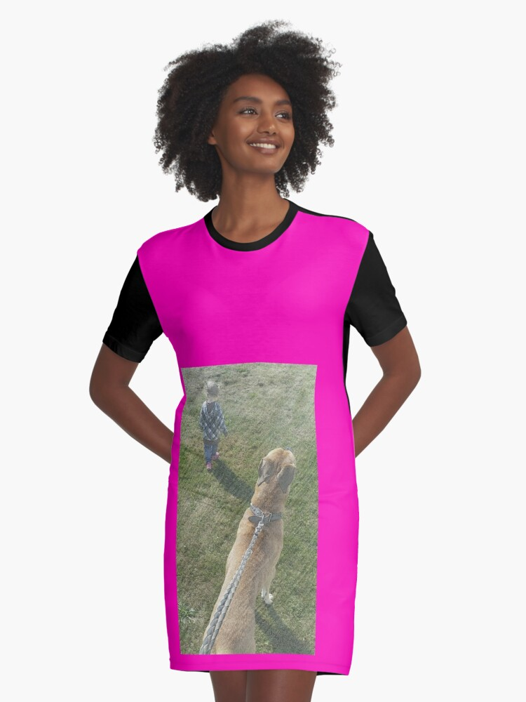 life Graphic T-Shirt Dress Front