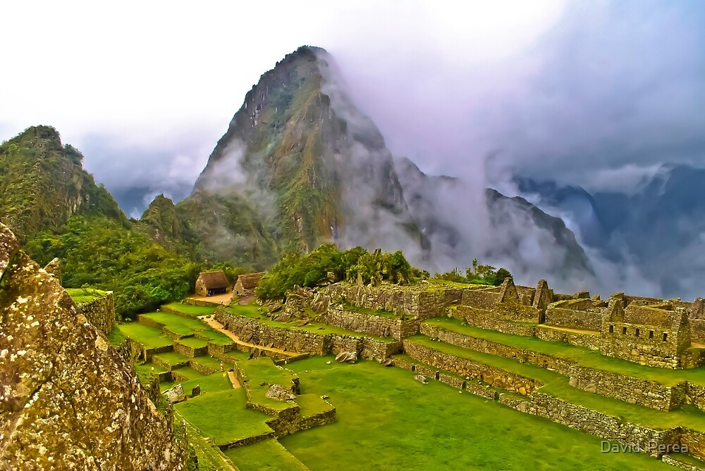 7 Wonder of the World Machu Picchu Peru  by David  Perea