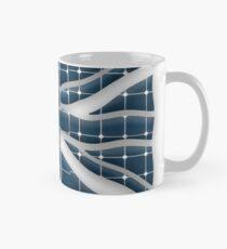Union Jack with photovoltaic solar panels. Mug