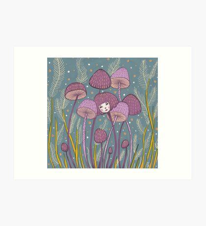 Uncommon Variety - Purple Mushroom Art Print