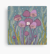 Uncommon Variety - Purple Mushroom Canvas Print