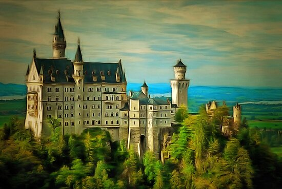 Neuschwanstein-Castle, Bavaria, Germany by Dennis Melling