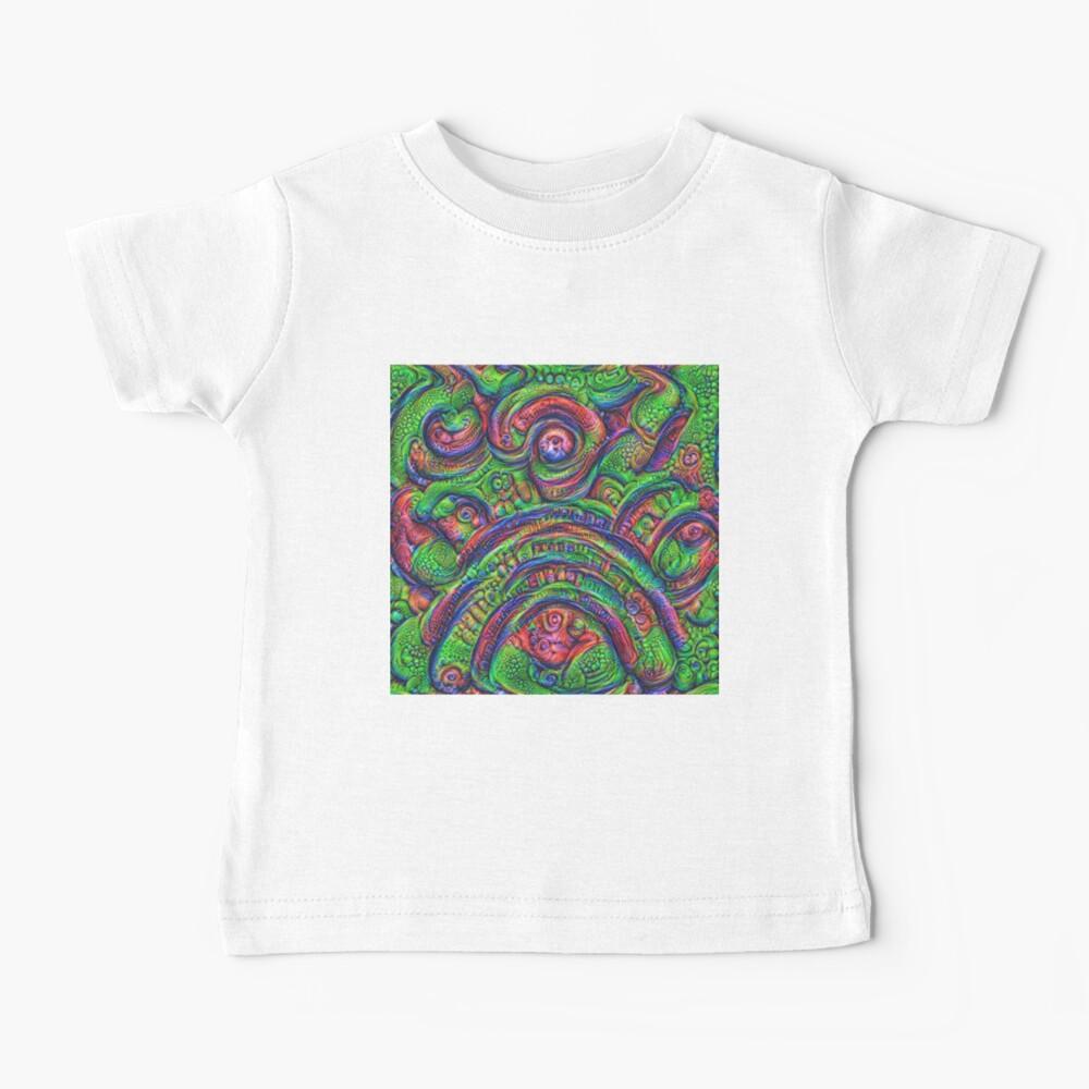 Green #DeepDream Baby T-Shirt