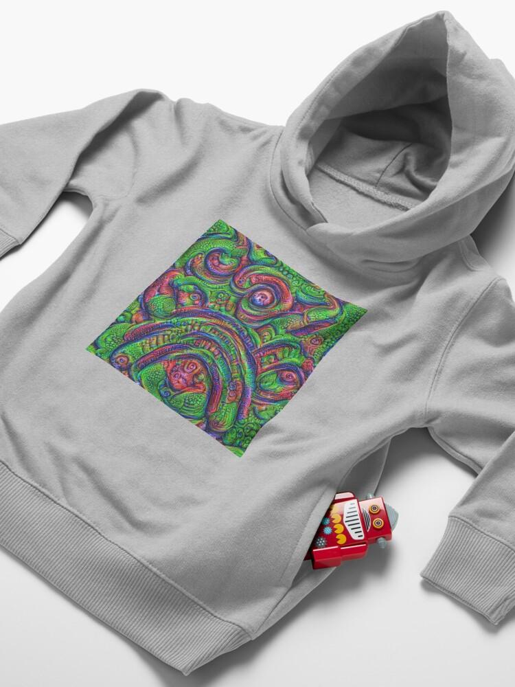 Alternate view of Green #DeepDream Toddler Pullover Hoodie