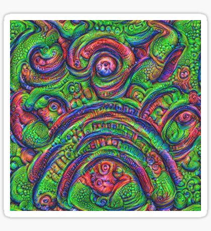 Green #DeepDream Sticker