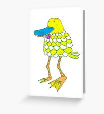 Skate-Billed Duckbob Greeting Card