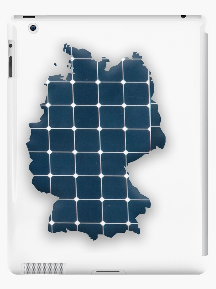 Map of Germany with photovoltaic solar panels. by stuwdamdorp