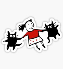 Happy Jumping Cats Sticker