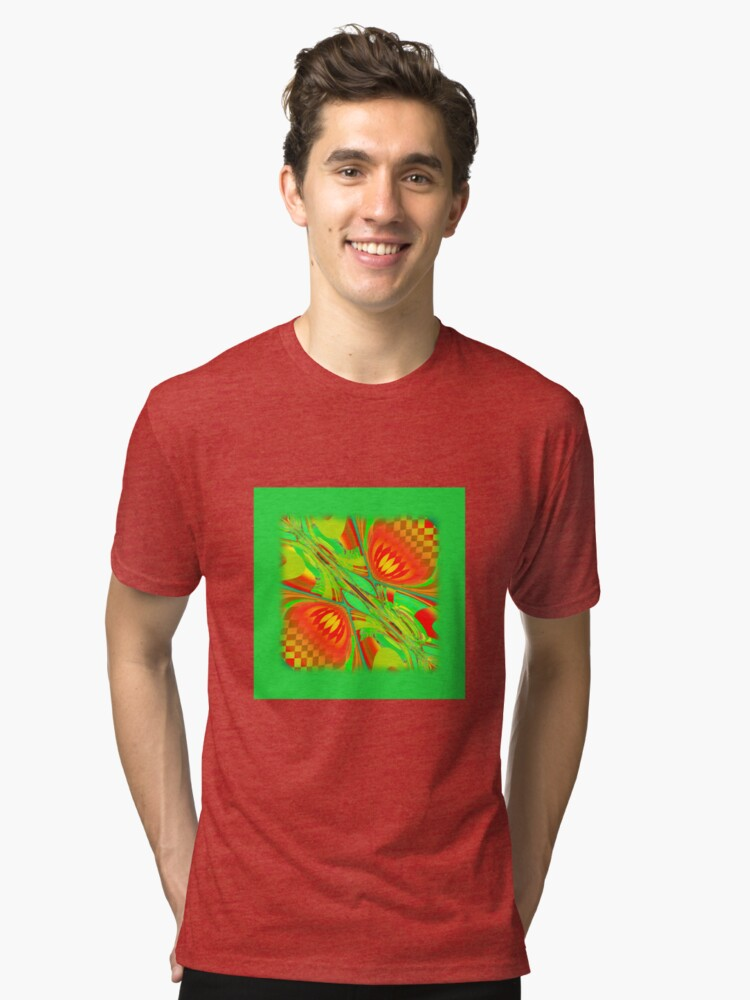 Abstract 0029 Tri-blend T-Shirt Front