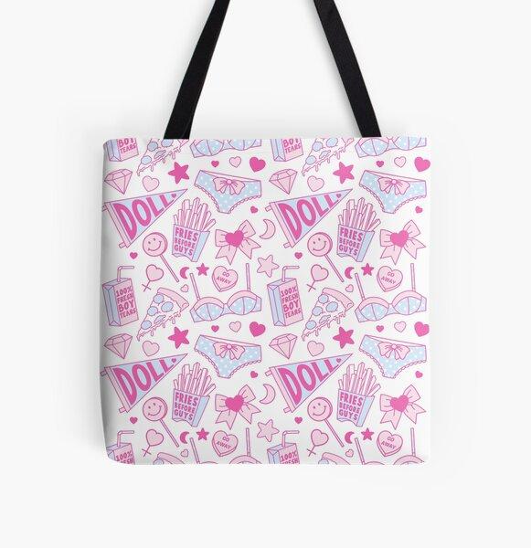 Girl Power All Over Print Tote Bag