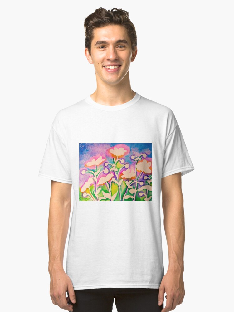 Pink Japanese Anemones Classic T-Shirt Front