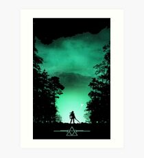 link the forest Art Print