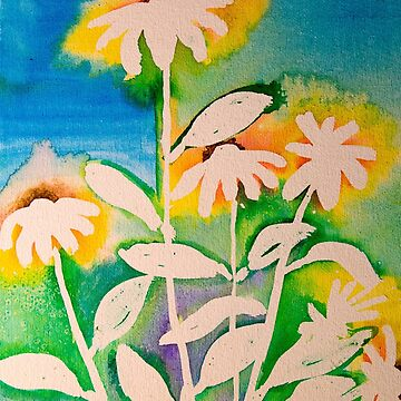 Sunshine daisies in ink by LaHickmana