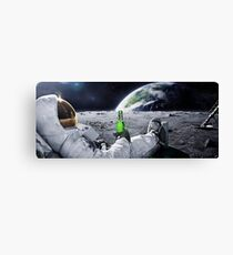 Space Beer Canvas Print