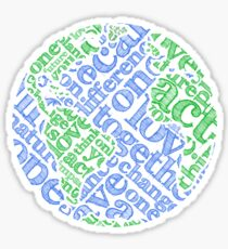 Earth Day: Love. Act. Change. Sticker