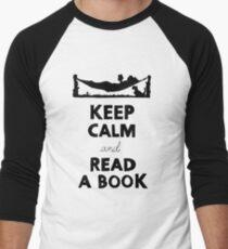 KEEP CALM AND READ A BOOK Men's Baseball ¾ T-Shirt