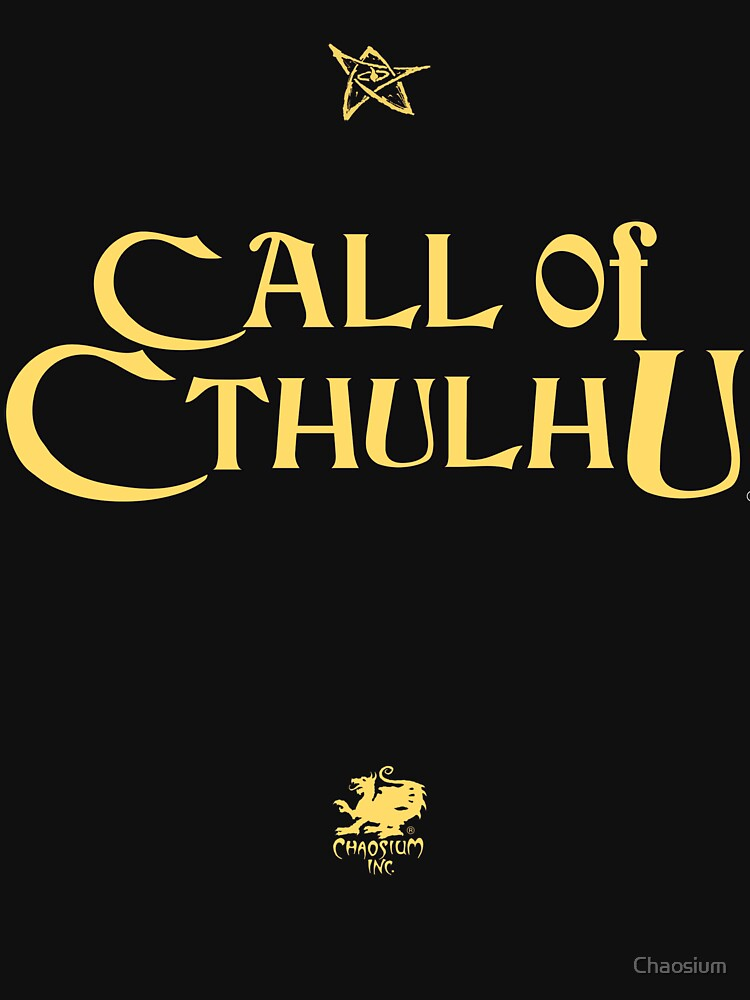 Call of Cthulhu - Logo (gold with Elder Sign & Chaosium Inc. Logo) by Chaosium