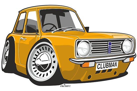 Mini Clubman Caricature Orange Posters By Car2oonz Redbubble